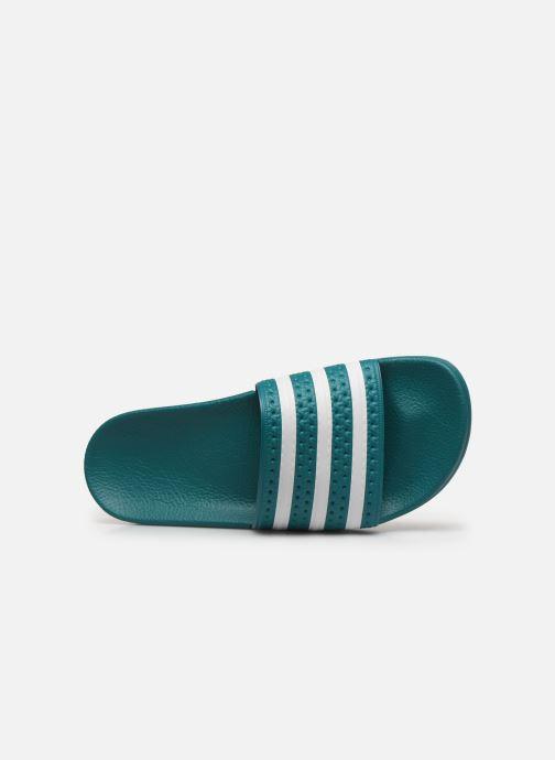 Sandales et nu-pieds adidas originals Adilette Vert vue gauche