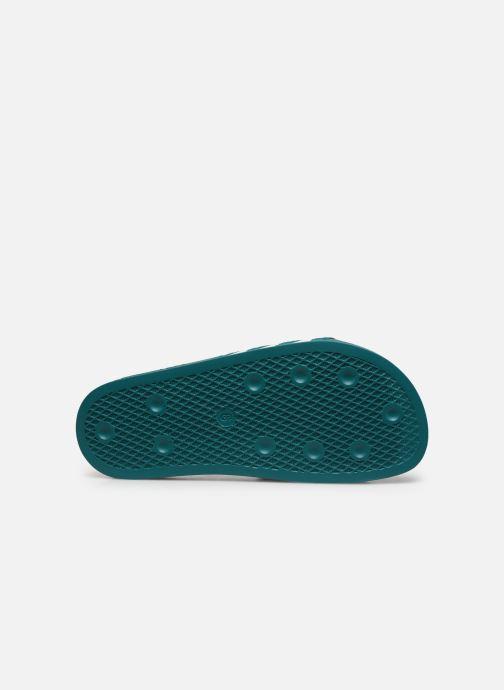 Sandales et nu-pieds adidas originals Adilette Vert vue haut