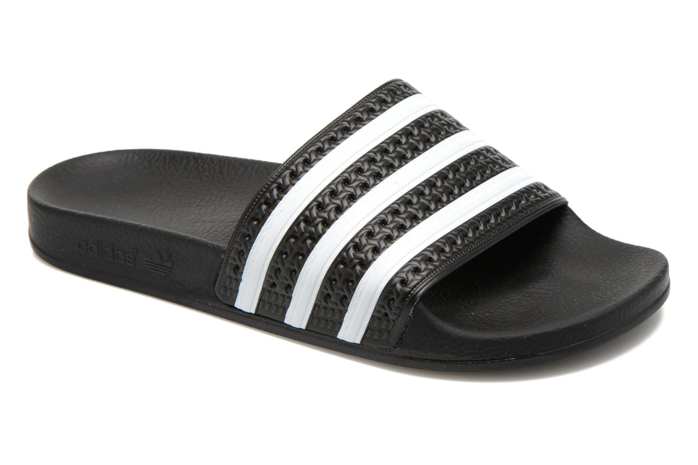 Sandales et nu-pieds Adidas Originals Adilette Noir vue détail/paire