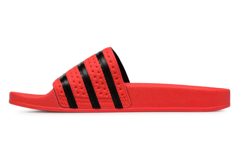 Sandalen Adidas Originals Adilette Rood voorkant