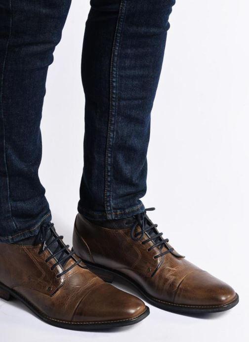Bottines et boots Mr SARENZA Walboots Marron vue bas / vue portée sac