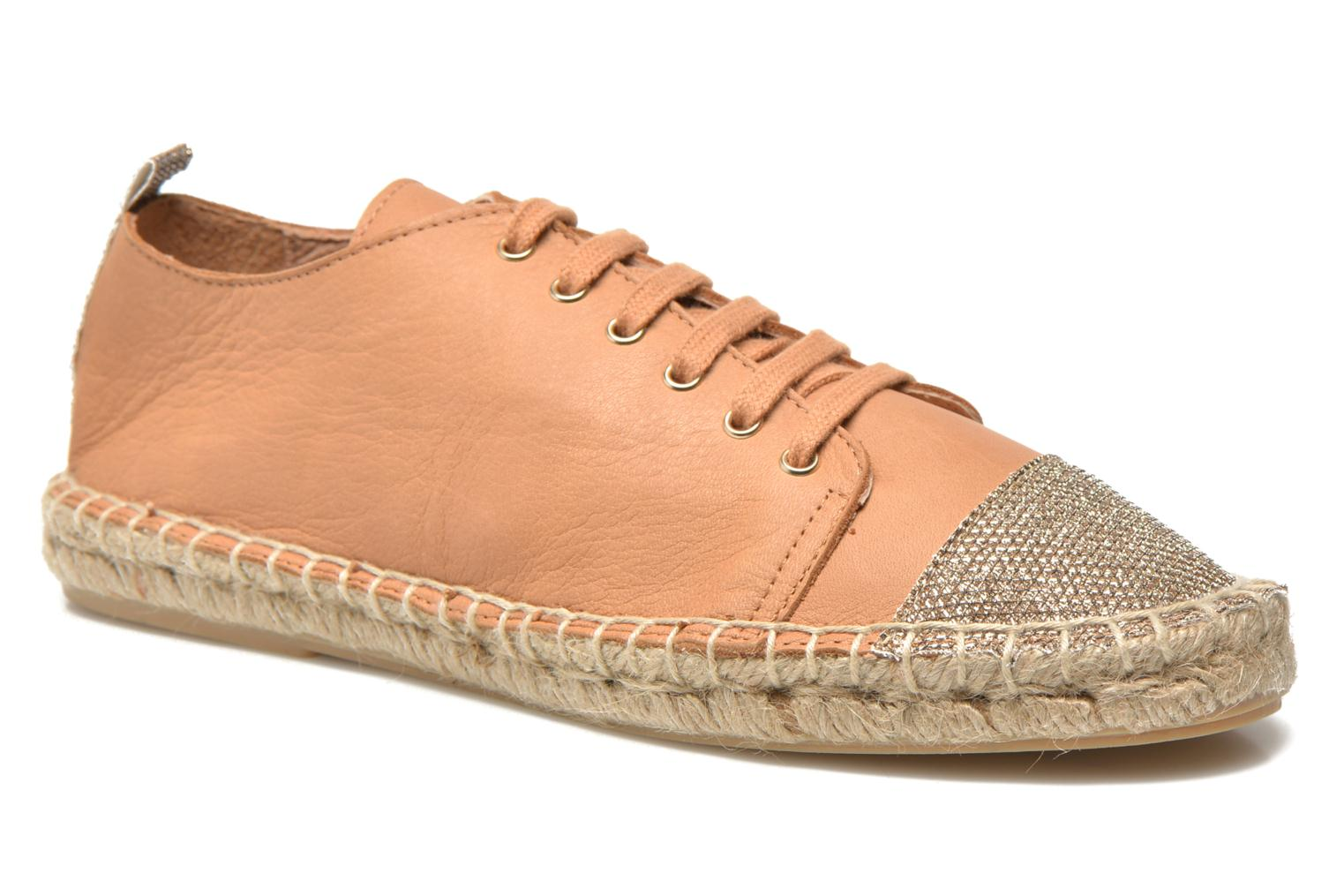 Espadrilles Georgia Rose Dakitte Bronze and Gold detailed view/ Pair view