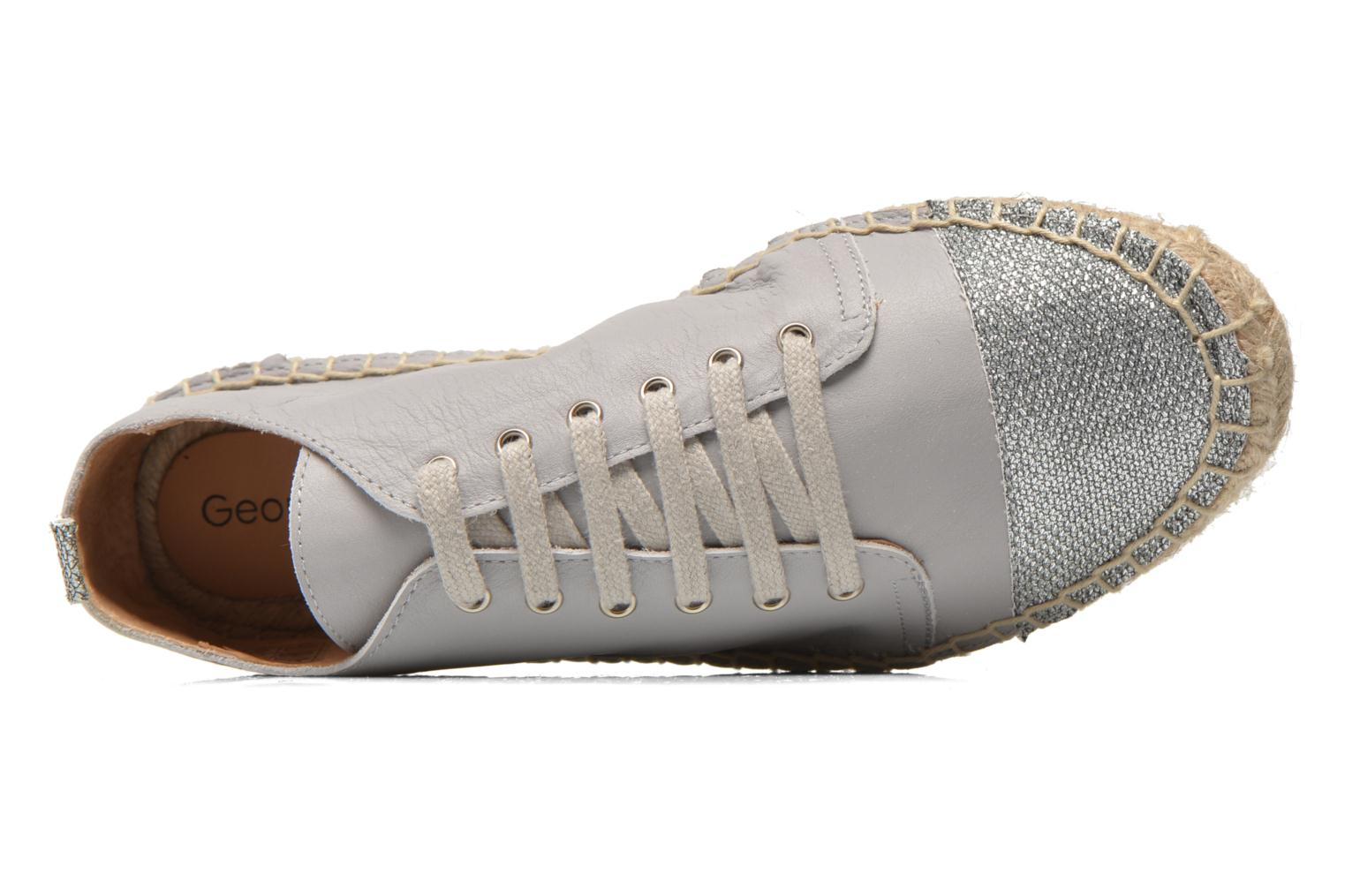 Espadrilles Georgia Rose Dakitte Silver view from the left