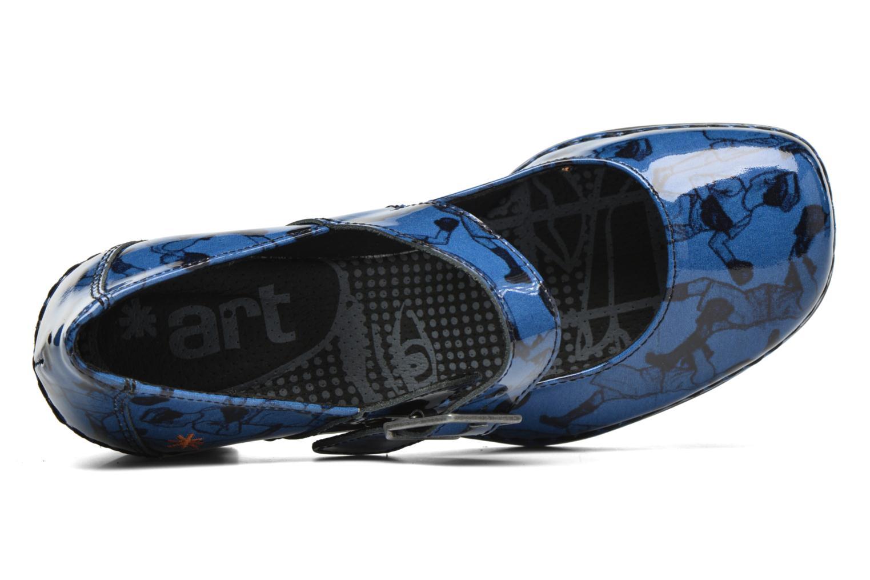 Escarpins Art Cannes 557 Bleu vue gauche