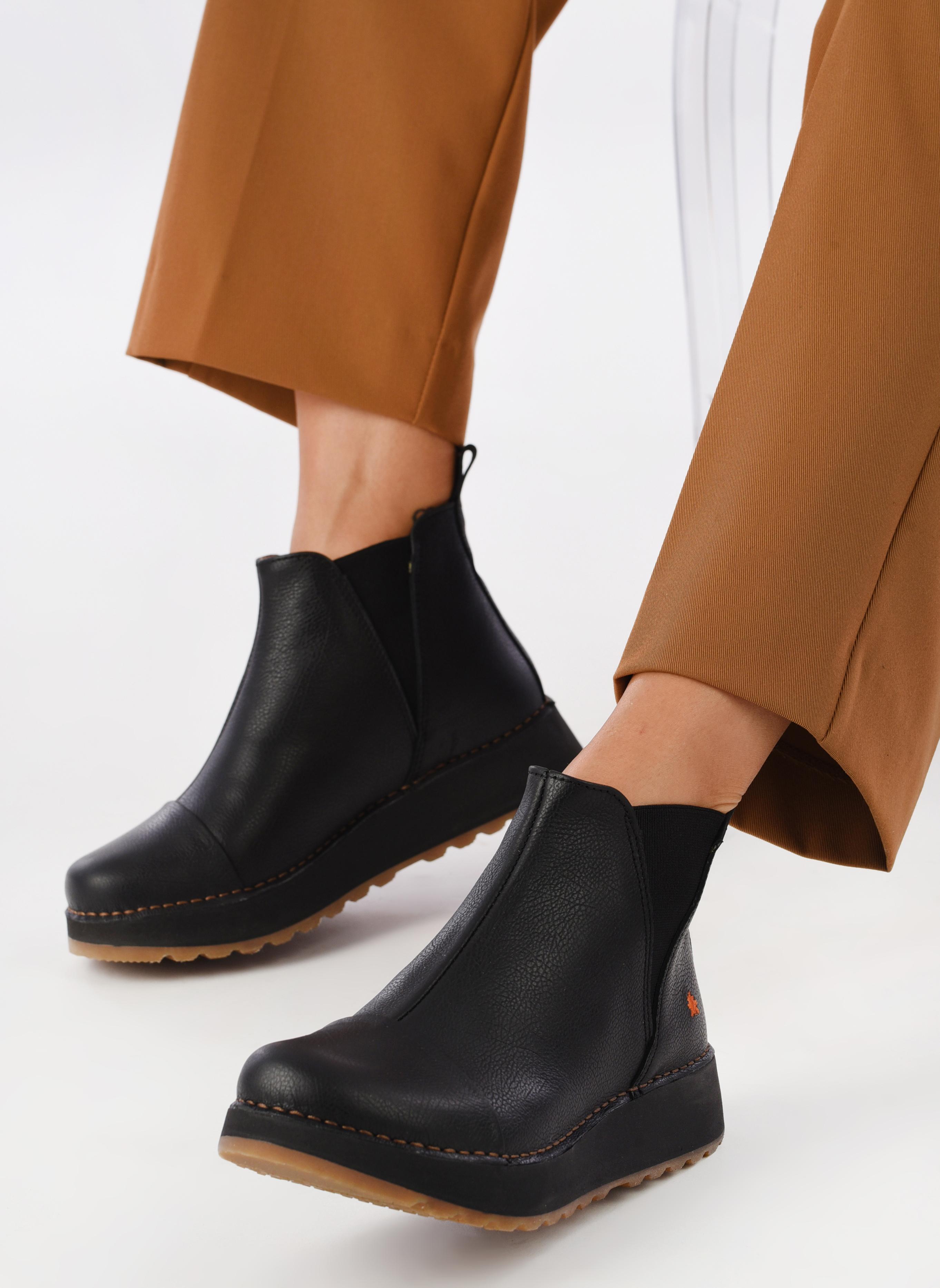 Boots en enkellaarsjes Art Heathrow 1023 Zwart onder