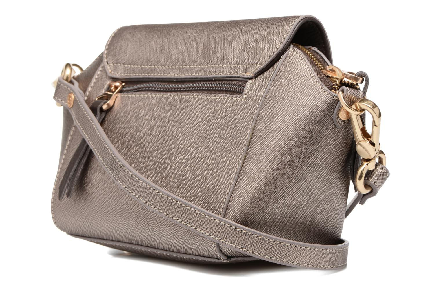 Handbags Sabrina Alma Bronze and Gold view from the right