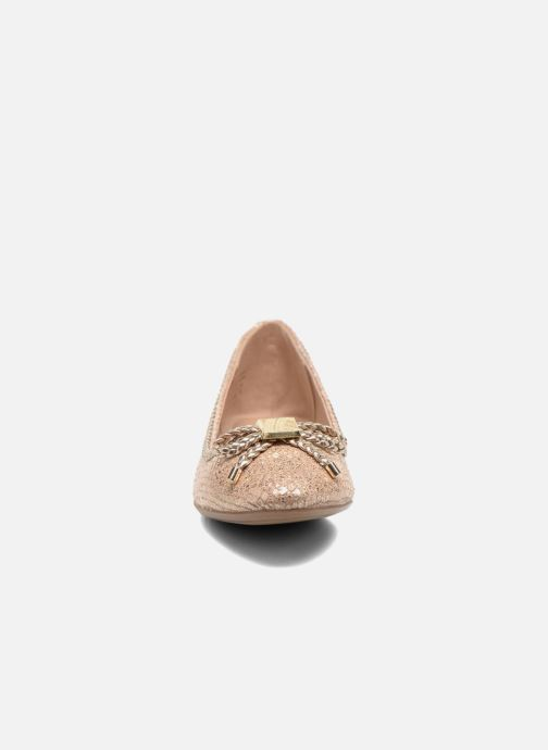Ballerines Aldo Narerien Or et bronze vue portées chaussures
