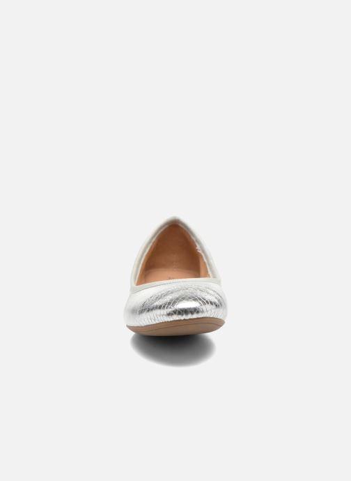 Ballerines Aldo Ocaun Argent vue portées chaussures