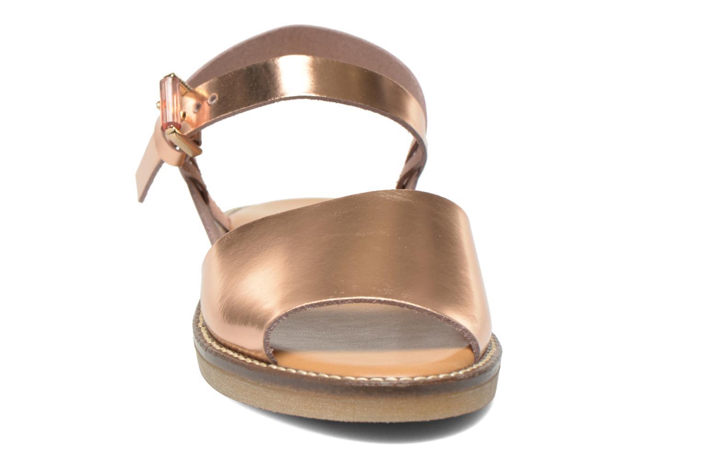Sandales et nu-pieds Aldo Roncari Rose vue portées chaussures