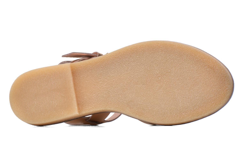 Sandales et nu-pieds Aldo Roncari Rose vue haut