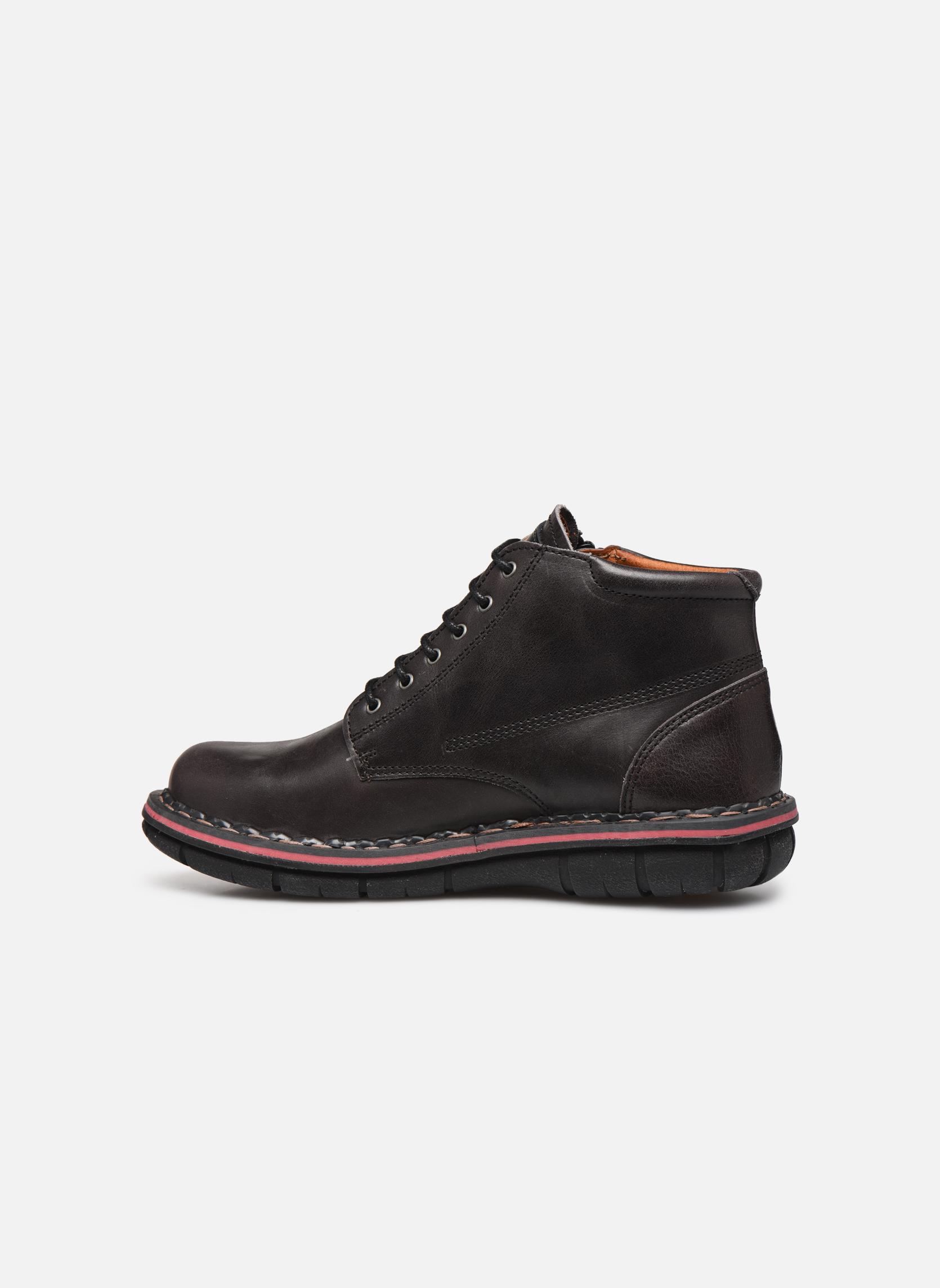 Chaussures à lacets Art Assen 434 Noir vue face
