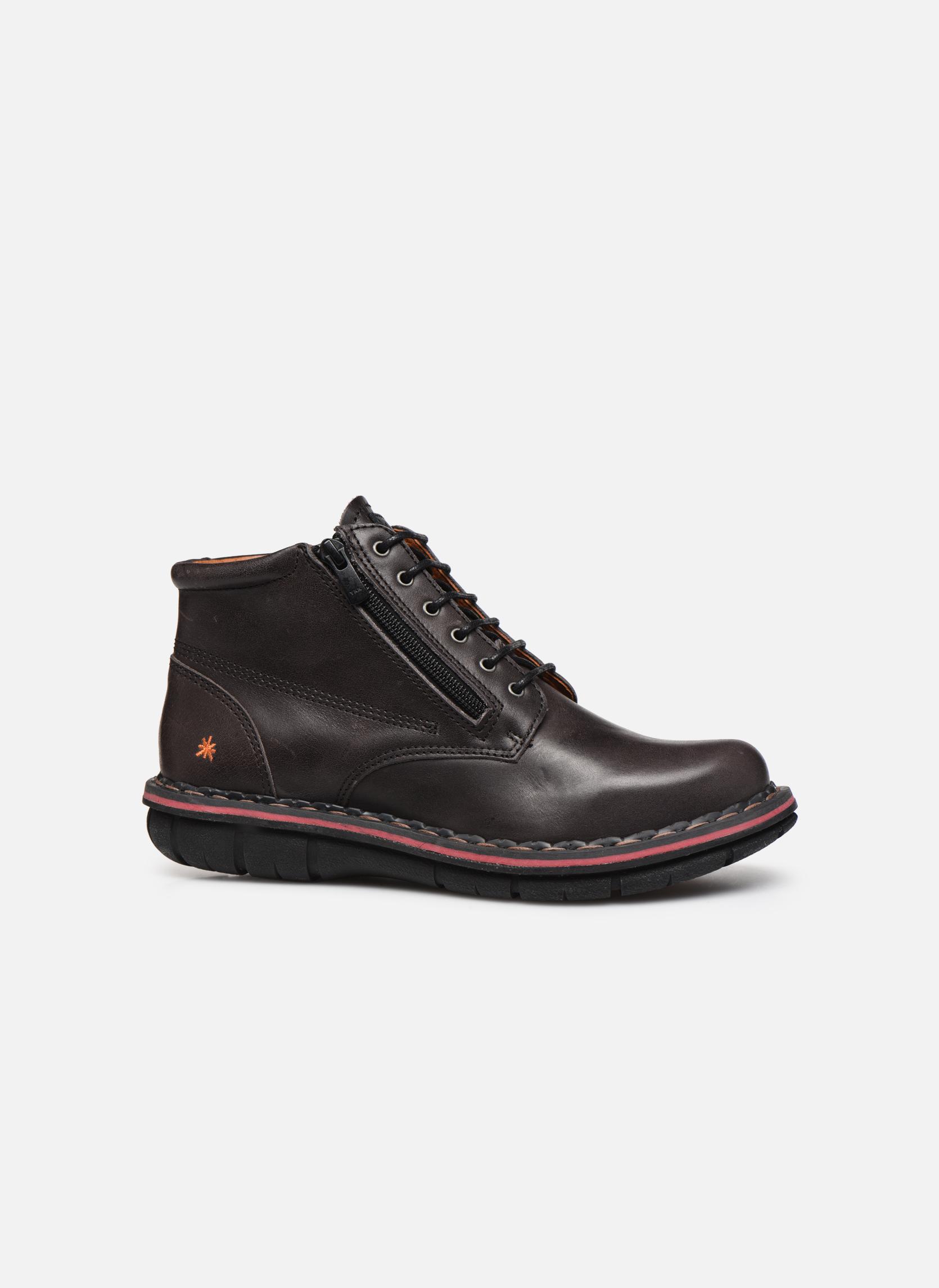 Chaussures à lacets Art Assen 434 Noir vue derrière