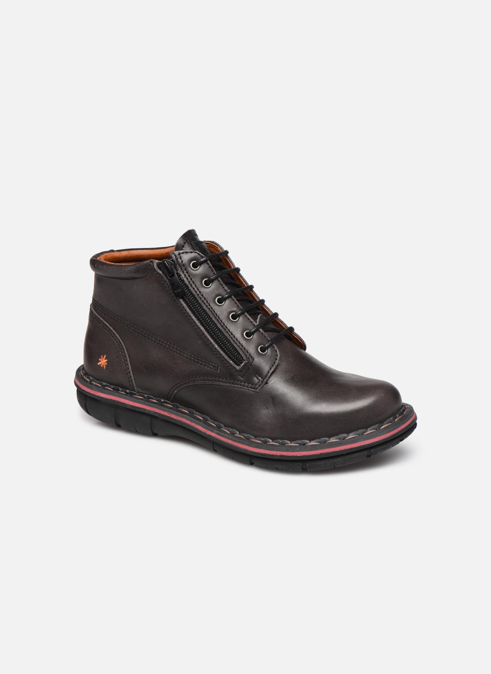 Chaussures à lacets Art Assen 434 Noir vue détail/paire