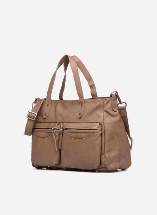 Handtaschen Sabrina Isabelle beige schuhe getragen