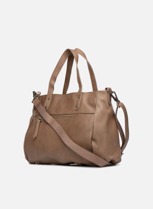 Handtaschen Sabrina Isabelle beige ansicht von rechts