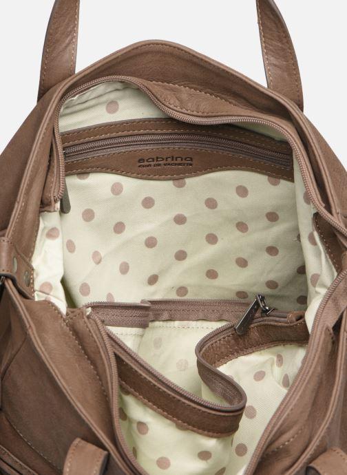 Handtassen Sabrina Isabelle Bruin achterkant