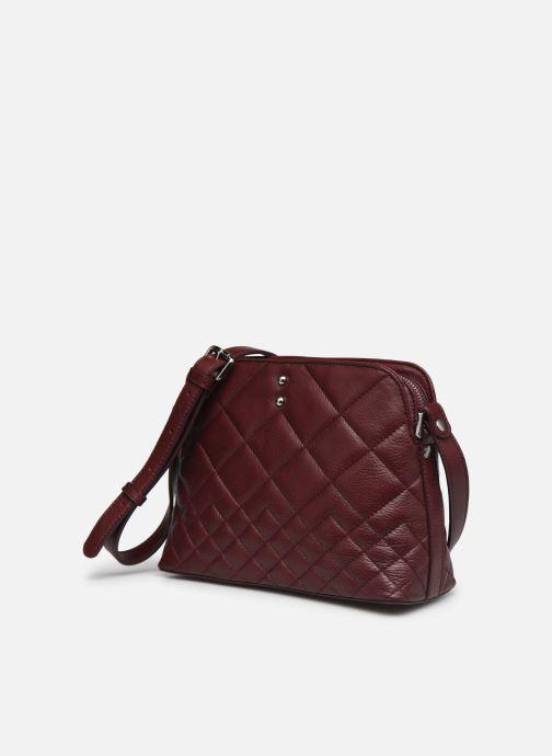 Handtaschen Sabrina Victoria rot schuhe getragen