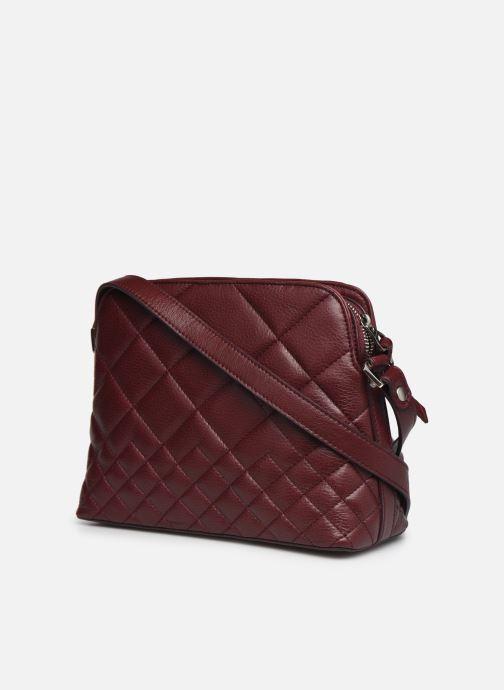 Handtaschen Sabrina Victoria rot ansicht von rechts