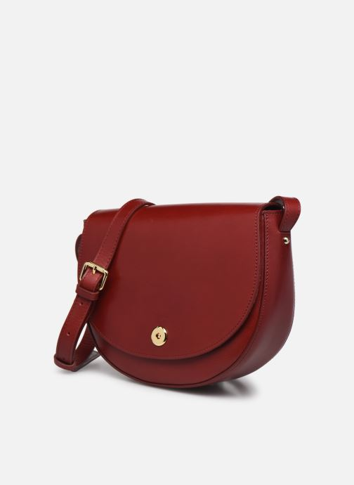 Handtaschen Sabrina Valentine weinrot schuhe getragen
