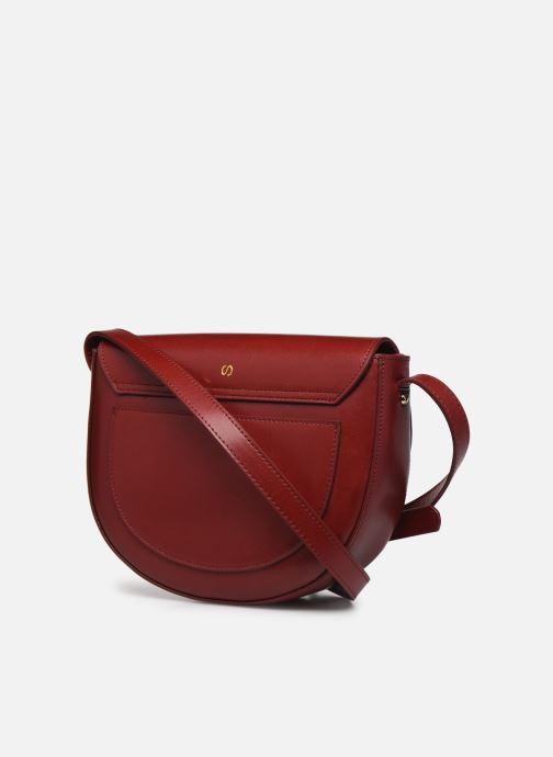 Handtaschen Sabrina Valentine weinrot ansicht von rechts