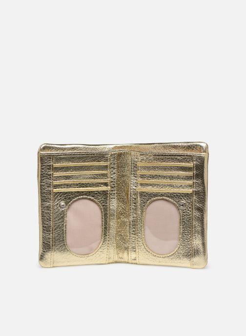 Kleine lederwaren Sabrina Ninon Goud en brons achterkant