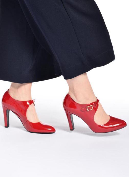 Escarpins Made by SARENZA Shoe Officer #3 Rouge vue bas / vue portée sac