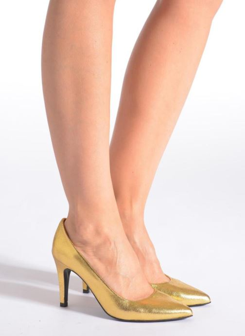 Zapatos de tacón Made by SARENZA Glossy Cindy #4 Oro y bronce vista de abajo
