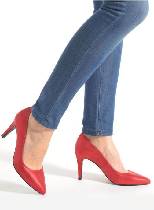 Escarpins Made by SARENZA Glossy Cindy #4 Rouge vue bas / vue portée sac