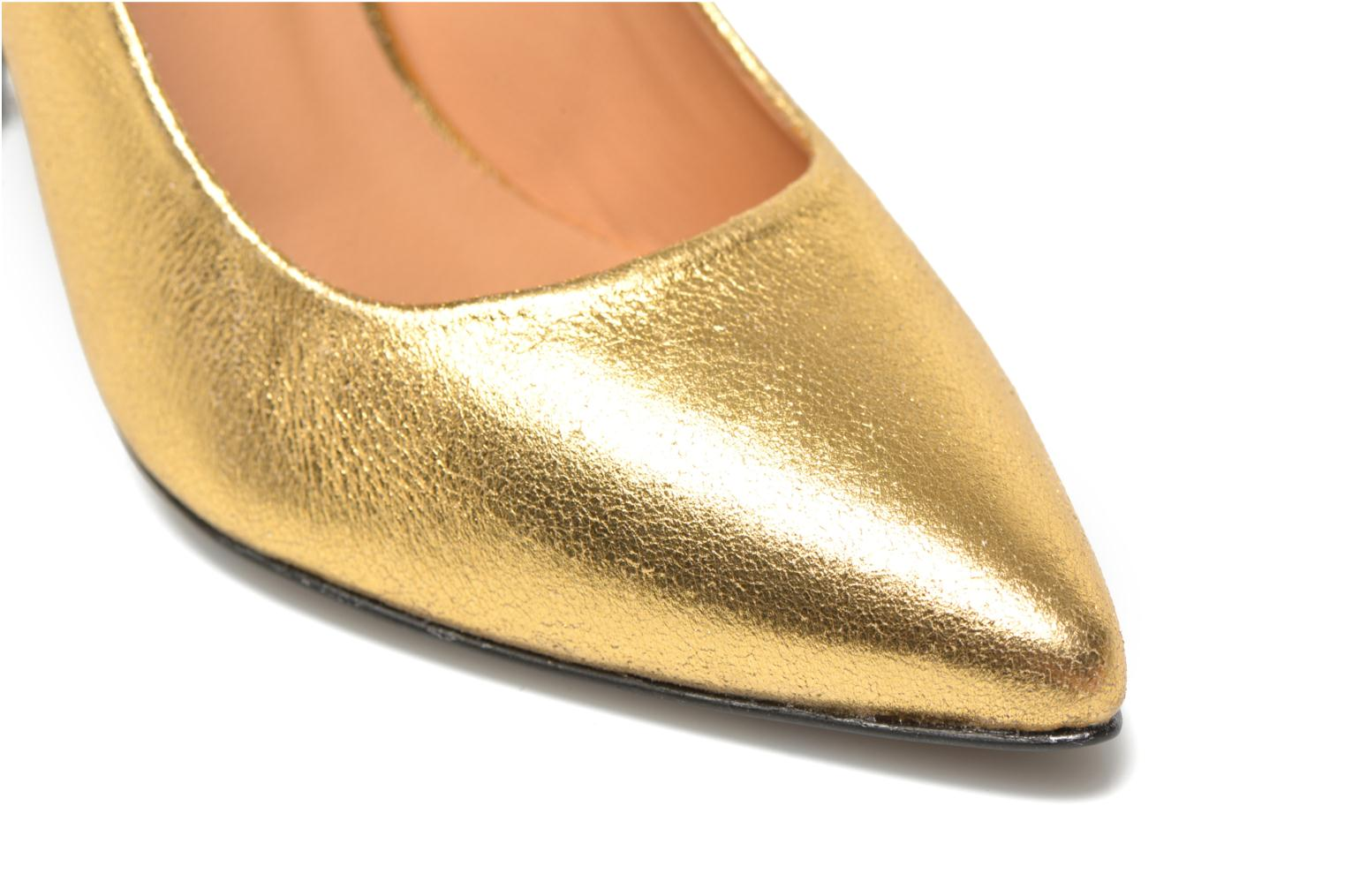Pumps Made by SARENZA Glossy Cindy #4 Goud en brons achterkant