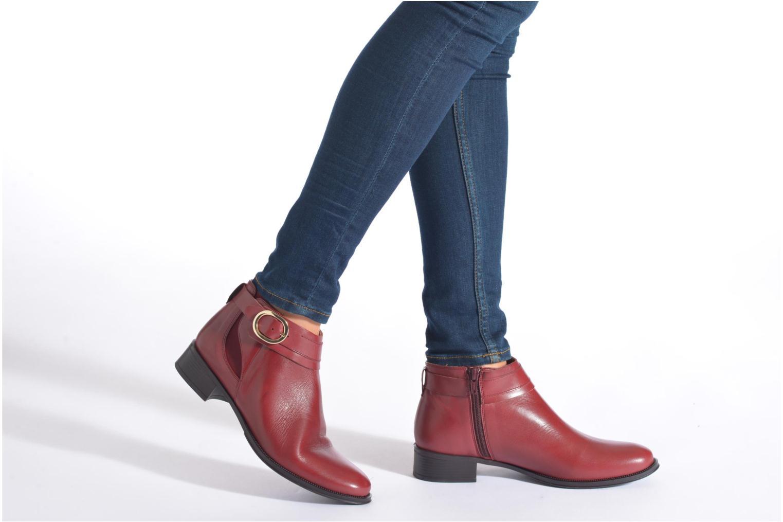 Bottines et boots Georgia Rose Eperdreau Marron vue bas / vue portée sac