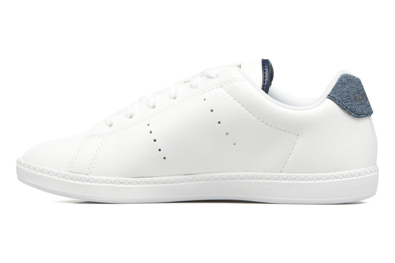Baskets Le Coq Sportif Courtone Gs Blanc vue face
