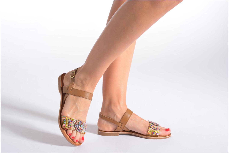 Sandales et nu-pieds Gioseppo Dove Multicolore vue bas / vue portée sac