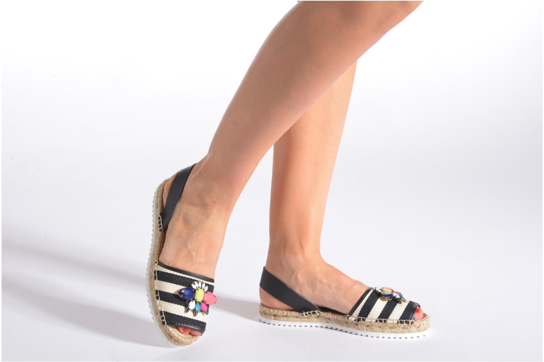 Sandales et nu-pieds Gioseppo Coticcio Noir vue bas / vue portée sac