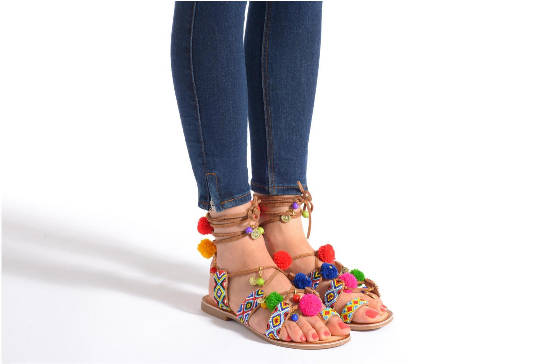 Sandales et nu-pieds Gioseppo Omahas Multicolore vue bas / vue portée sac