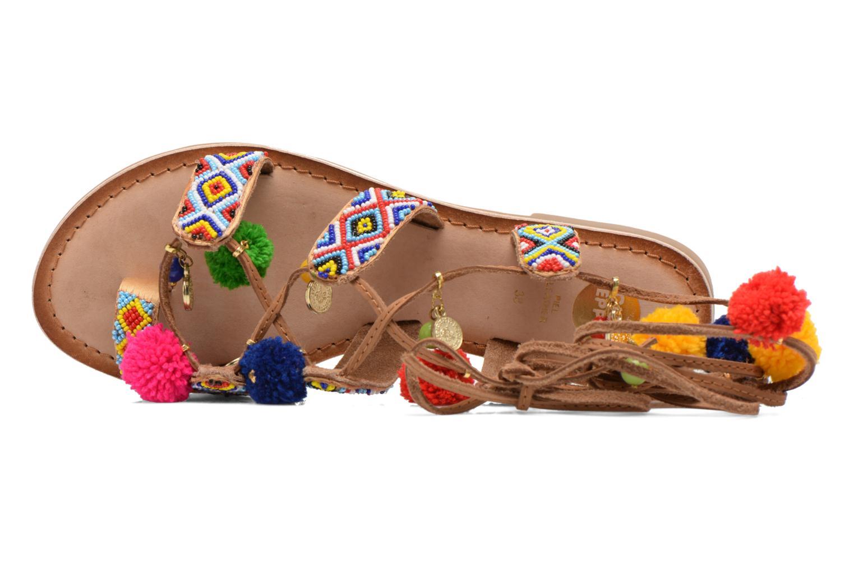 Sandales et nu-pieds Gioseppo Omahas Multicolore vue gauche