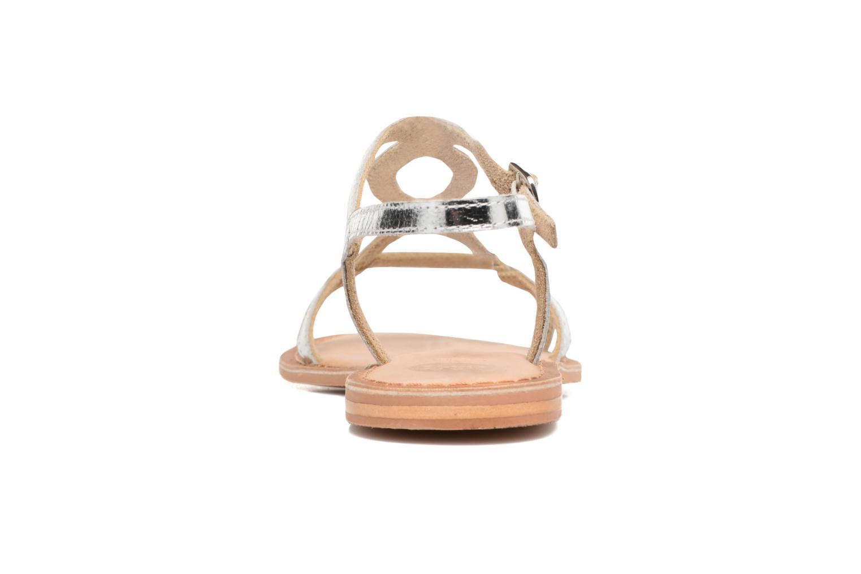 Sandales et nu-pieds Gioseppo Silva Argent vue droite