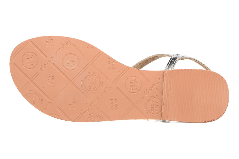 Sandales et nu-pieds Gioseppo Silva Argent vue haut