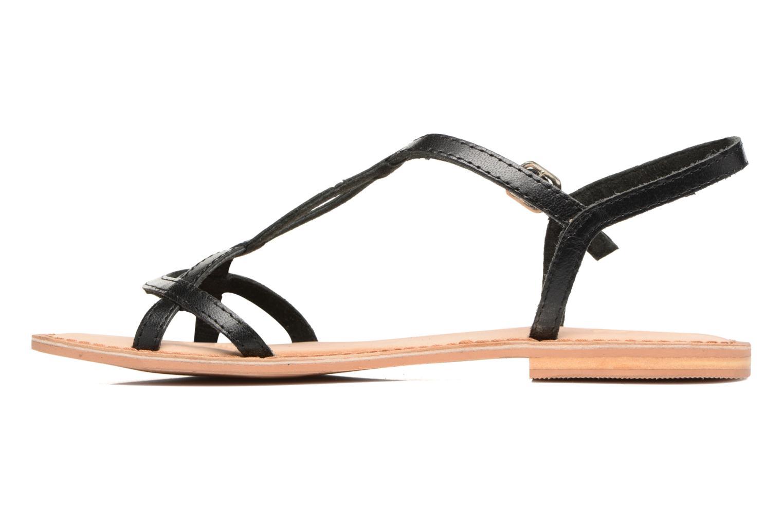 Sandales et nu-pieds Gioseppo Silva Noir vue face
