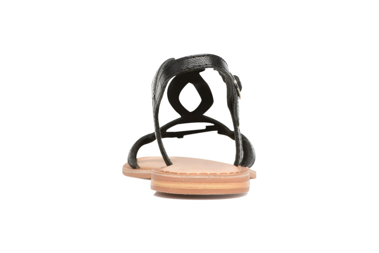 Sandales et nu-pieds Gioseppo Silva Noir vue droite