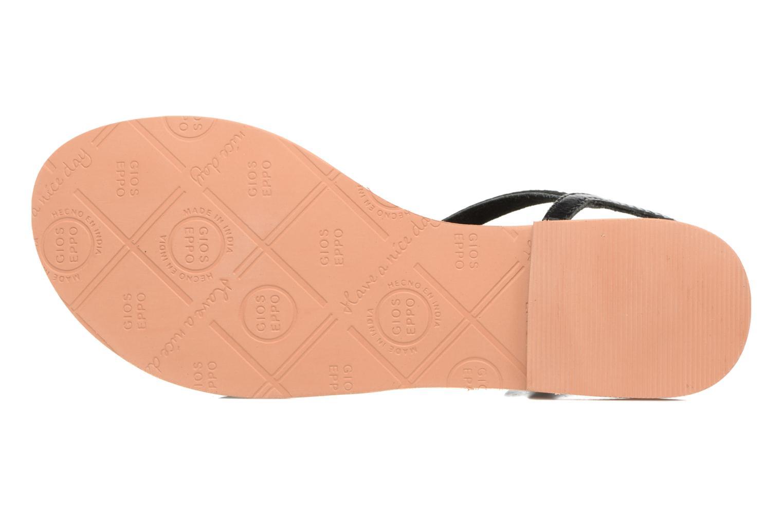 Sandales et nu-pieds Gioseppo Silva Noir vue haut