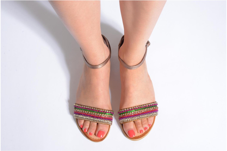 Sandales et nu-pieds Gioseppo Losne Multicolore vue bas / vue portée sac