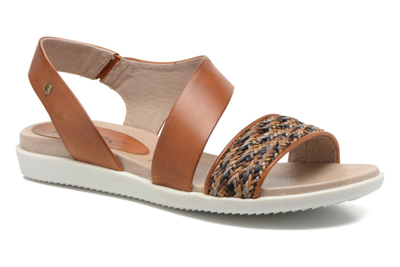 Sandales et nu-pieds Pikolinos Antillas W0H-0803 Marron vue détail/paire