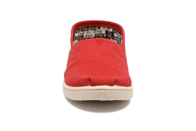 Baskets TOMS Canvas Classics Rouge vue portées chaussures