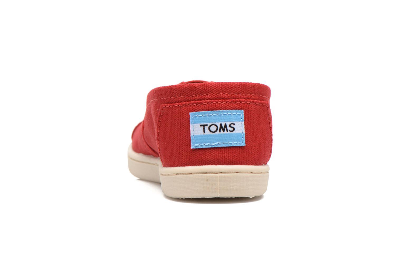 Baskets TOMS Canvas Classics Rouge vue droite
