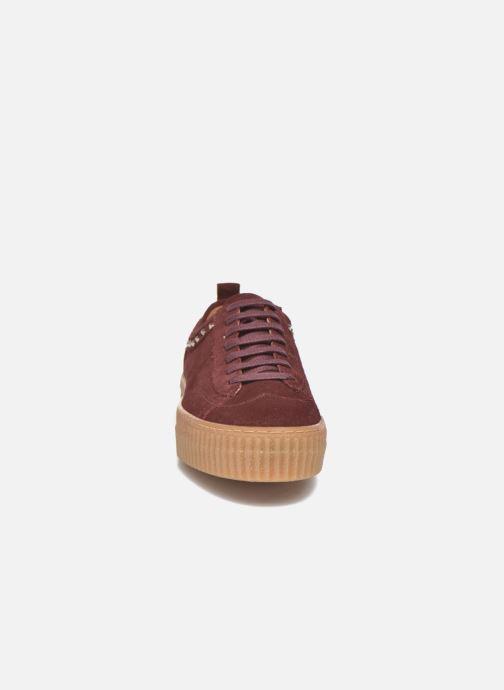Baskets Bronx TraiX Suede Bordeaux vue portées chaussures