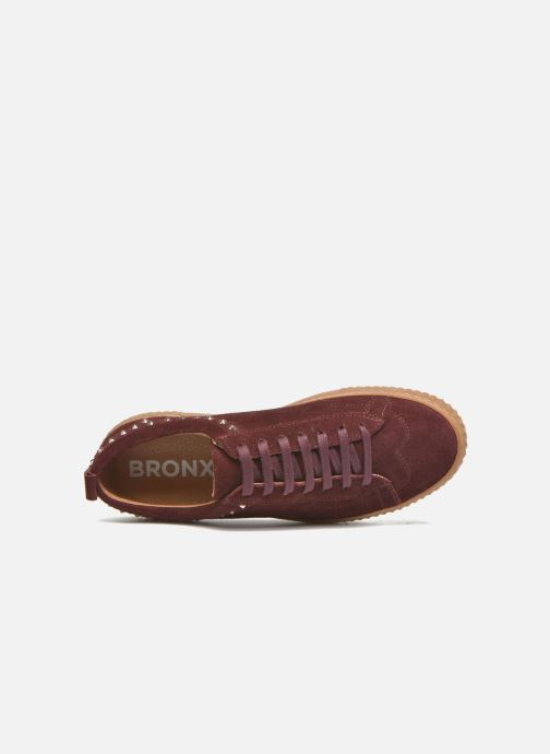 Trainers Bronx TraiX Suede Burgundy view from the left