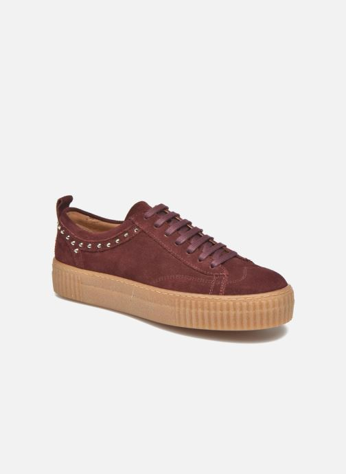 Trainers Bronx TraiX Suede Burgundy detailed view/ Pair view
