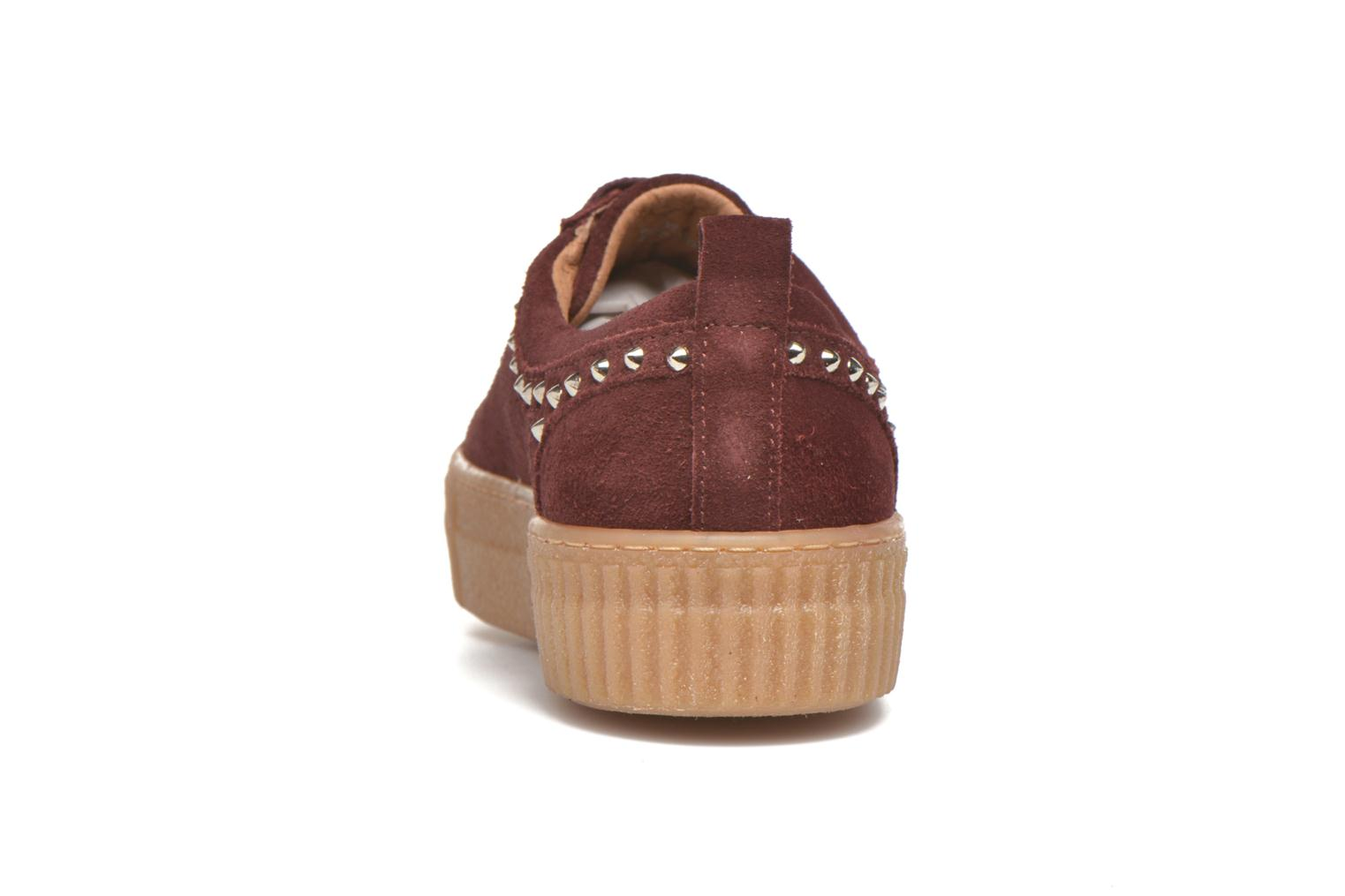 Trainers Bronx TraiX Suede Burgundy view from the right