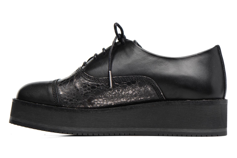 Chaussures à lacets Bronx Vino Noir vue face