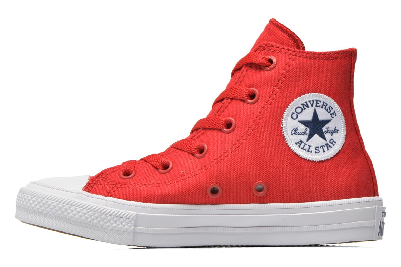 Sneakers Converse Chuck Taylor All Star II Hi Rood voorkant